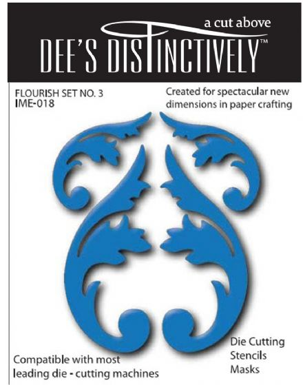 IME018~ FLOURISHES (SET1) ~ Dee's Distinctively Dies